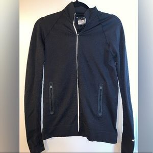 Nike Black dri-fit zip-up jacket